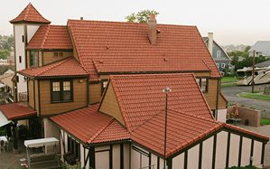 Iconic Hartman House Classic Spanish Composite Tile Reroof Aerial View