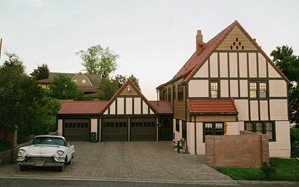 Iconic Hartman House Classic Spanish Composite Tile Reroof Garage